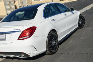 Mercedes Benz W205 C63 C63S AMG Carbon Fiber Side Skirts