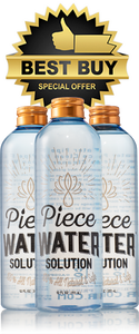Piece Water Solution 3-Pack (12 Fl oz)