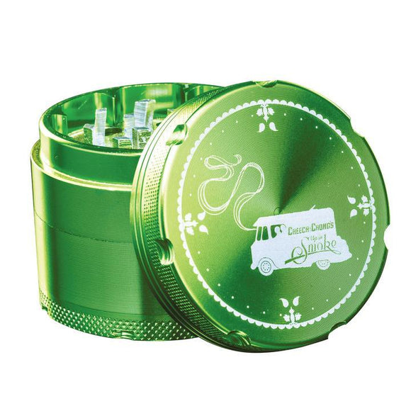 Famous X Cheech & Chong Aluminum Herb Grinder (Green or Purple) 50mm