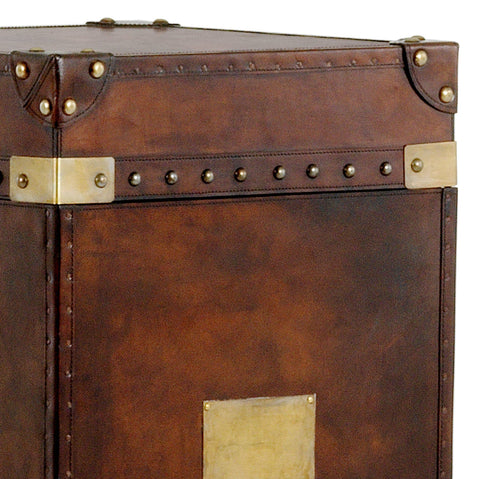 Rustic Leather Trunk - Casey & Company Bespoke Design