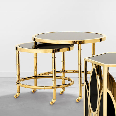 Gold Nesting Side Table - Casey & Company Bespoke Design