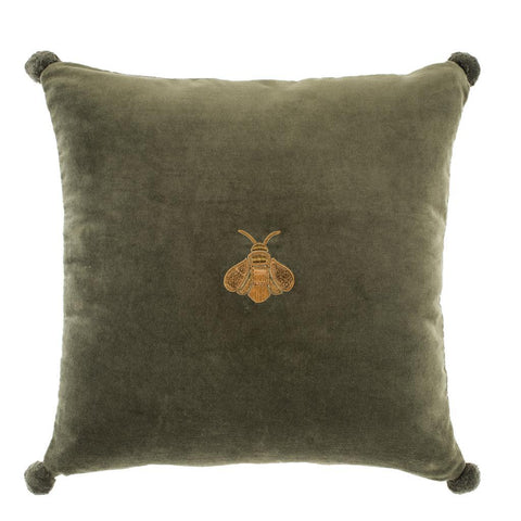 Green Bee Velvet Pillow - Casey & Company Bespoke Design