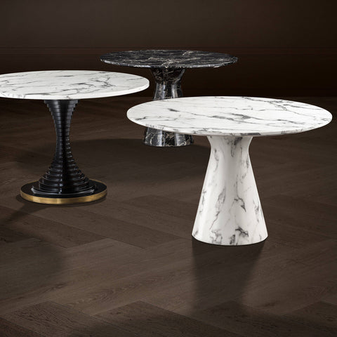 White Marble Dining Table - Casey & Company Bespoke Design