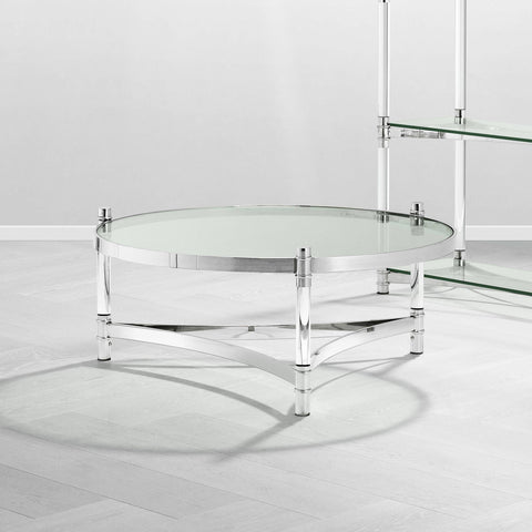 Round Silver Frame Coffee Table - Casey & Company Bespoke Design