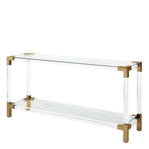 Clear Glass Console Table - Casey & Company Bespoke Design
