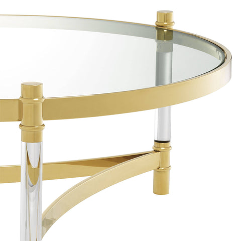 Round Gold Coffee Table - Casey & Company Bespoke Design