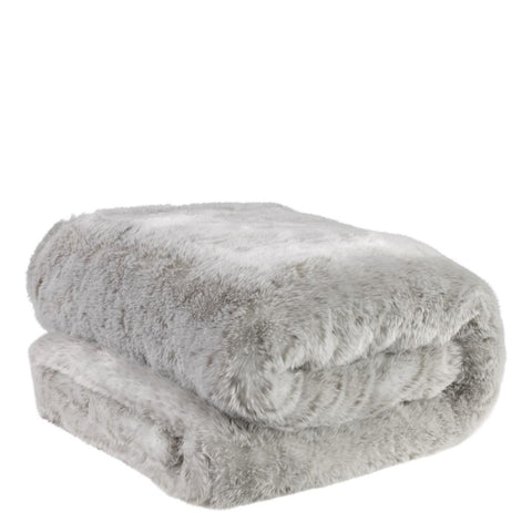 Light Gray Fur Throw - Casey & Company Bespoke Design