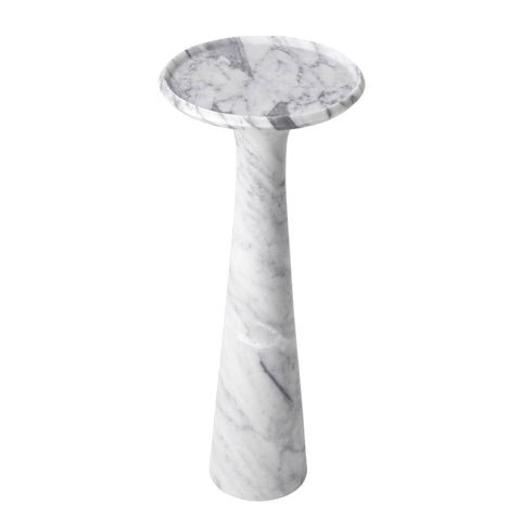 White Marble Side Table - Casey & Company Bespoke Design