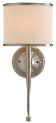 Primo Cream Nickel Wall Sconce - Casey & Company Bespoke Design