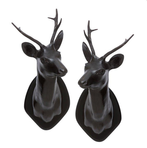 Black Stag Head (set of 2) - Casey & Company Bespoke Design