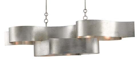 Grand Lotus Silver Oval Chandelier - Casey & Company Bespoke Design