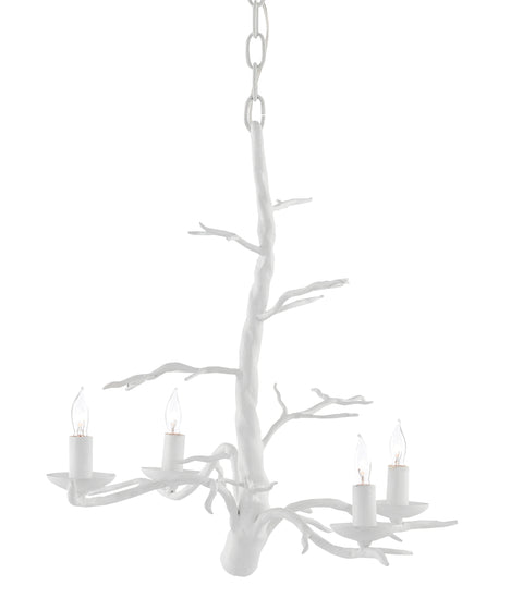 Treetop White Small Chandelier - Casey & Company Bespoke Design