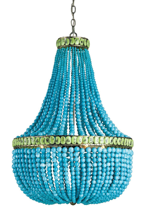 Hedy Turquoise Chandelier - Casey & Company Bespoke Design