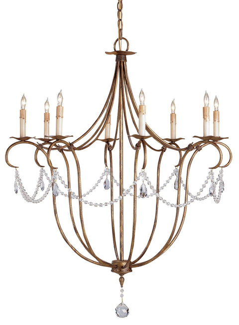 Crystal Lights Gold Large Chandelier - Casey & Company Bespoke Design