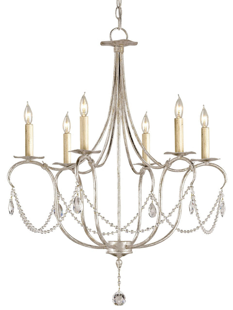 Crystal Lights Silver Small Chandelier - Casey & Company Bespoke Design