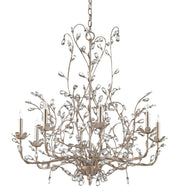 Crystal Bud Silver Large Chandelier - Casey & Company Bespoke Design
