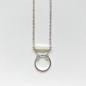 Third & Co. Studio Minimalist Mother of Pearl Necklace