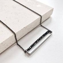 Load image into Gallery viewer, Third & Co. Studio Faceted Crystal Minimalist Necklace
