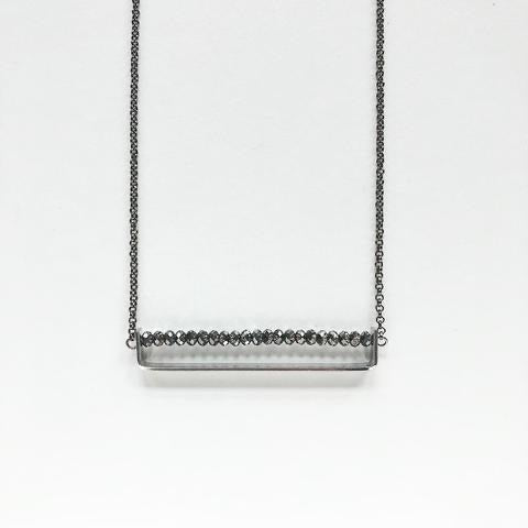 Third & Co. Studio Faceted Crystal Minimalist Necklace