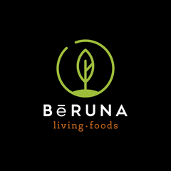 BeRUNA White on Black Logo