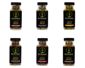 BēRUNA SEED SALT® & SWEET® STARTER SAMPLE PACK (CASE x 6)
