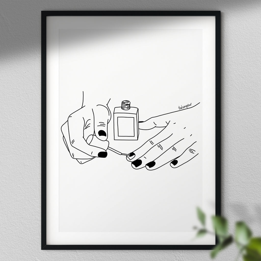 Paint My Nails - Wall Art | Art Print | Drawing Poster