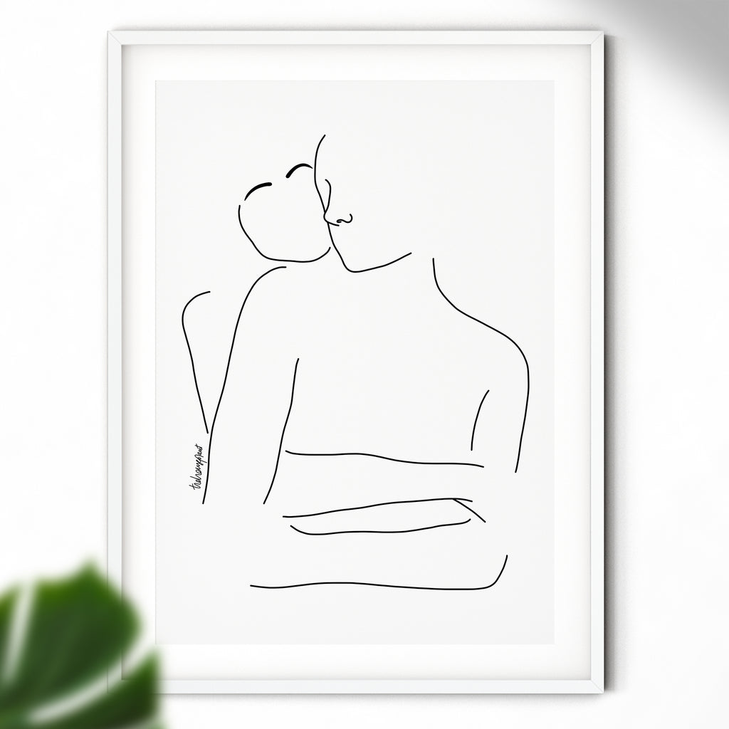 Hold Me - Wall Art | Love Print | Hugs Print
