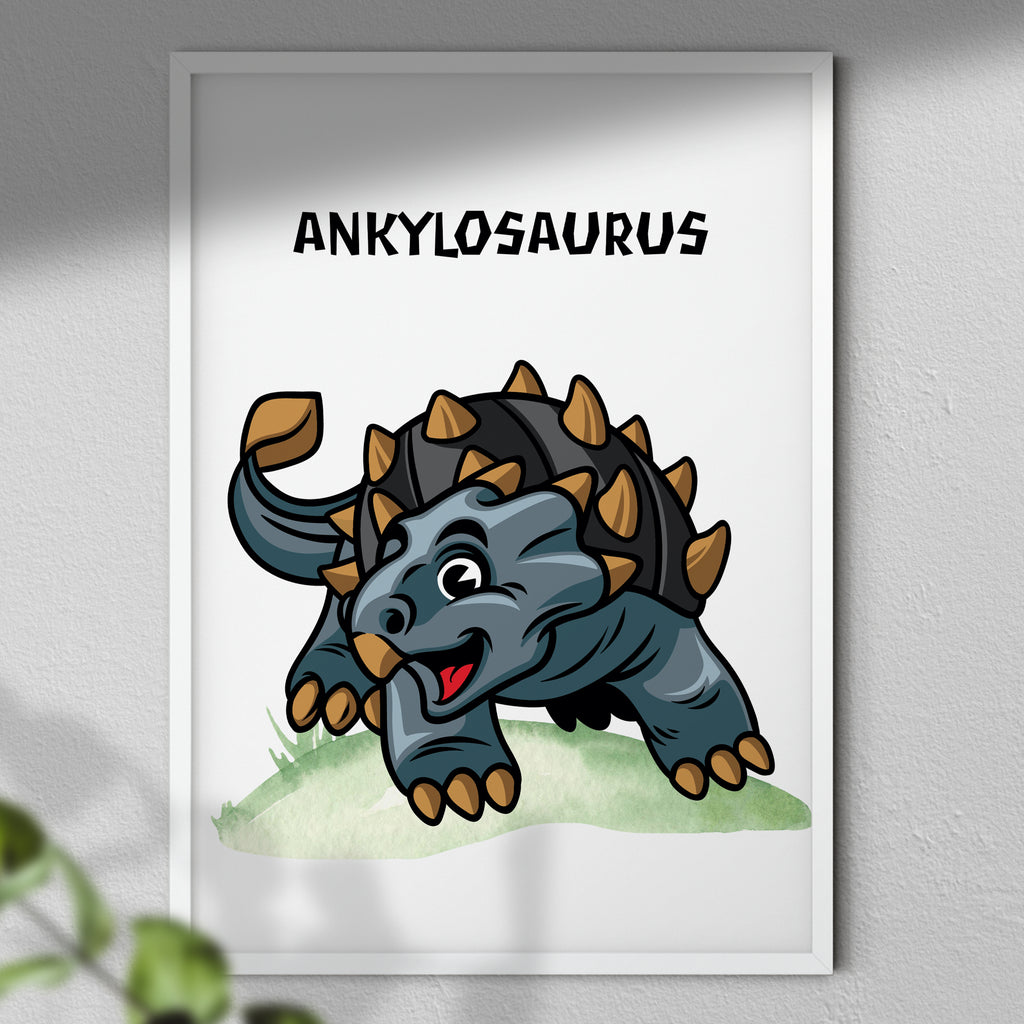 Dinosaur Poster - Kids Room | Dinosaur Wall Art Prints | Kids Bedroom Decor