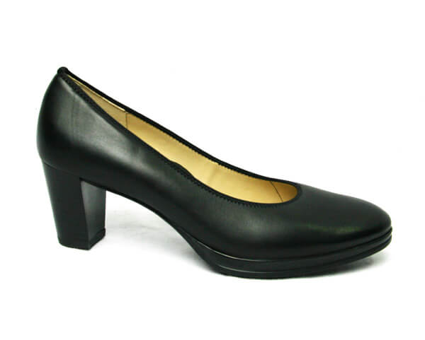 Ara 1213436-black leather high court shoe