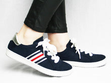 Load image into Gallery viewer, Ara 2253226W9-Navy suede sneakers