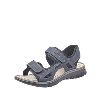 Rieker 2676114- Velcro Sandal, Wide Fit