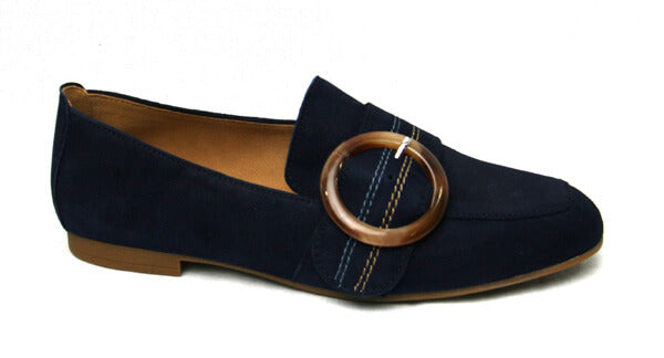 Gabor 4421216-navy suede loafers