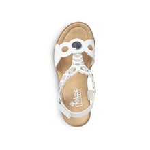 Load image into Gallery viewer, Rieker 655H4S20 - Wedge T-bar sandal