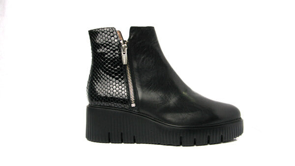 Wonders E6224blk- Ankle boot