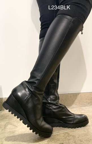 Marco Moreo L234BLK- Wedge tall boot