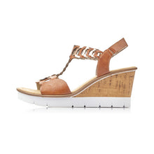 Load image into Gallery viewer, Rieker V55H4S20 - Wedge sandal