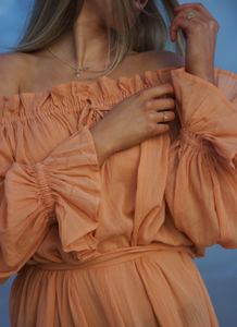 Hazel + Folk Emmaline Gown - Toasted Peach