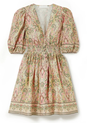 Zimmermann Freja Paisley Print Mini Dress