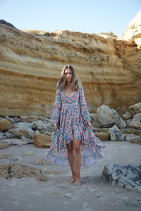 Spell Sayulita Frill Gown