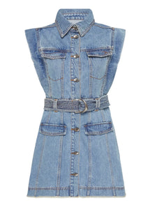 Aje Remi Denim Sleeveless Dress