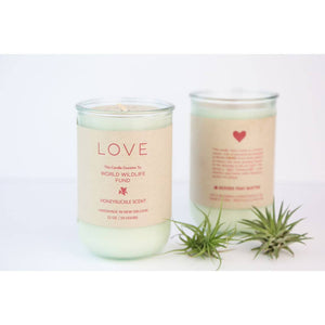 LOVE Honeysuckle Candle