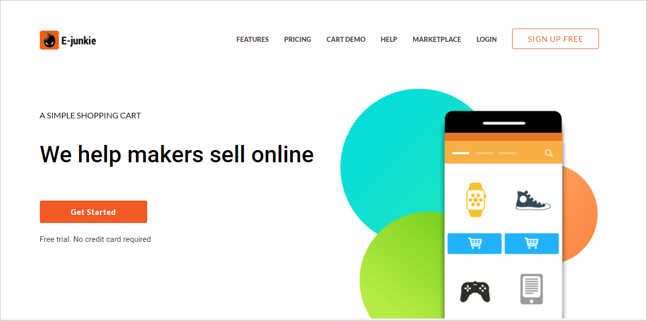 e-junkie sell digital products online