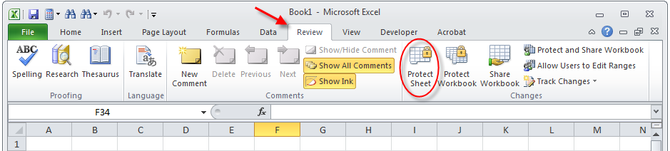 How to protect an Excel worksheet