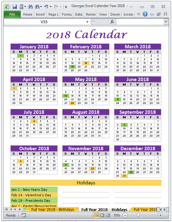 Year Calendar Buy : Calendar year in excel spreadsheet printable