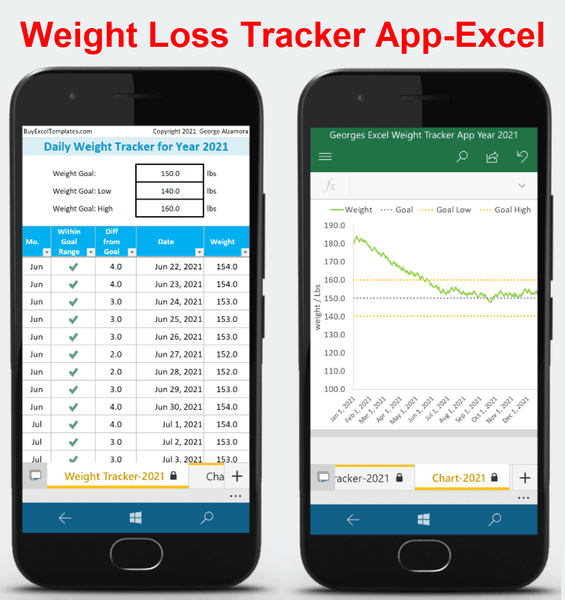 Android mobile weight tracker app 2021-Excel Templates