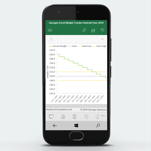android weight loss tracker chart excel spreadsheet 2019