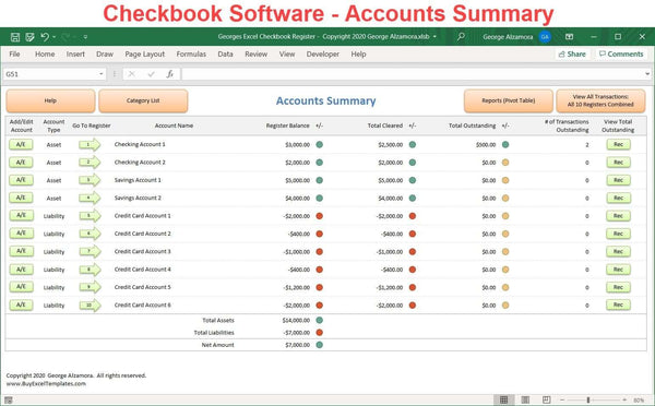 checkbook app checking credit card accounts