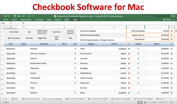 Mac Checkbook Software