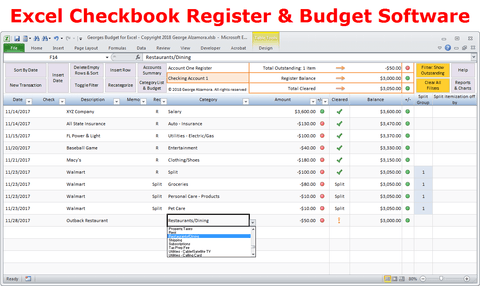 Georges Budget for Excel v12.0