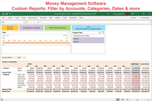 money management expense tracker reporting